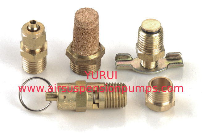 5 PC. Tank Port Fitting Kit  Drain Cock PSI Safety Valve With Metal Forair Ride Pump