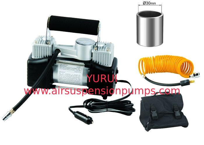 Portable Yurui Metal 2 Cylinder Air Compressor Kit Hose Bag Gauge