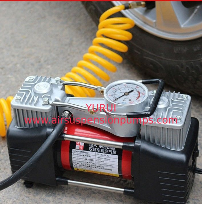 High Pressure Hand Small Air Compressor 3.75kgs With Double Cylinder 180w 12v