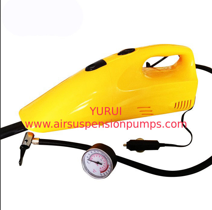 35w - 60w Yellow Handheld Car Vacuum Cleaner With Compressor Function