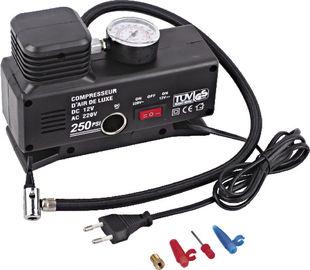 Negro portátil práctico actual cambiable del plástico del compresor de aire del neumático de coche