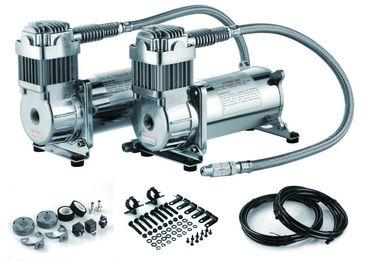 12V se doblan compresor de aire dual del tanque del aire de 200 PSI del paseo del compresor de acero de la suspensión